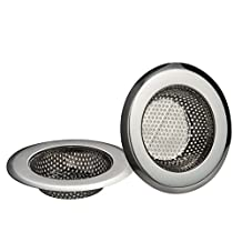 Daixers 2 Pack Kitchen Garbage Sink Strainer Heavy-Duty Stainless Steel (Top Diameter 4.3 Inch)