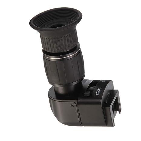 Hersmay 1X-3.25X - Buscador de ángulo Recto para cámara réflex ...