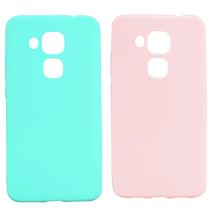 2* Funda Huawei Nova Plus Gel TPU Silicona Flexible Candy Colors Ultra Delgado Ligero Goma Case Cover Caja Suave Gel Shock Absorción Anti Rasguños ...