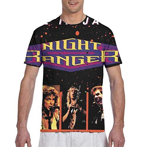 Night Ranger Seven Mens 3D Printed Short Sleeve Top T-Shirts XL Black ()