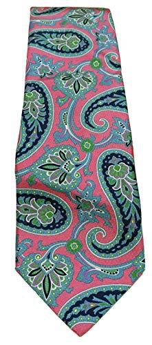 Ted Baker London Swirls 100% Silk Pink Necktie