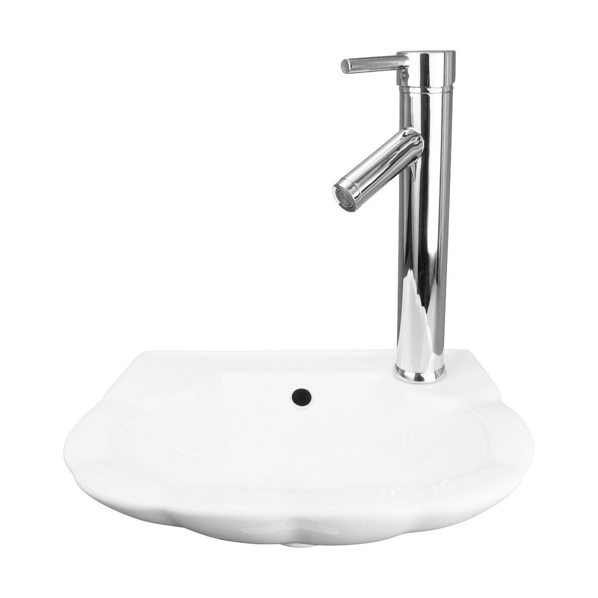 Small Wall Mount Bathroom Sink White Periwinkle Design 14 1 4 W Renovator s Supply