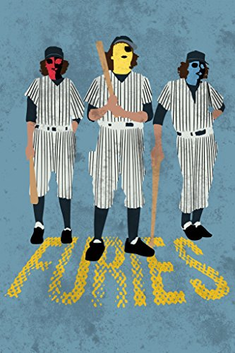 - Gotham City Online Baseball Furies Minimalist Movie Poster 12x18 inch