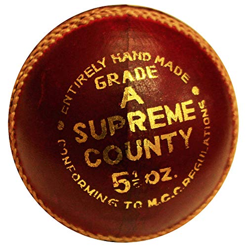 AMBER Sporting Goods Super County Cricket Leather Ball (Each) from AMBER