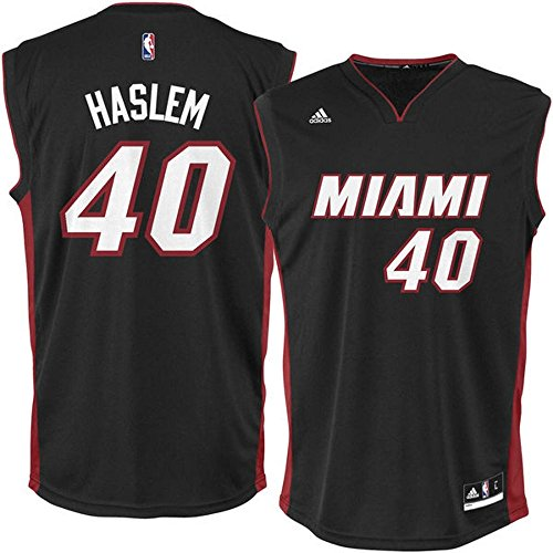 - New Udonis Haslem Miami Heat NBA Adidas Men's Black Official Away Replica Jersey Size (2XL)