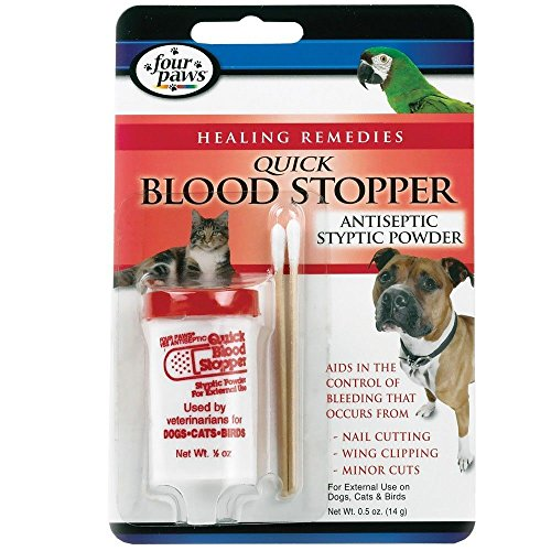 Four Paws Antiseptic Quick Blood Stopper Styptic Powder 0.5 oz](Four Paws Grooming Scissors)