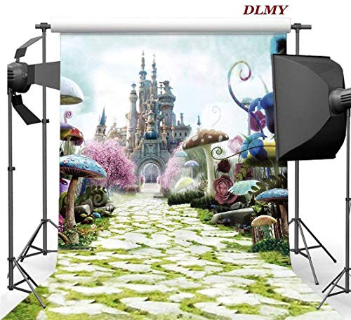 DLMY 5x7ft Alice in Wonderland Birthday Party Supplies Photography Backdrop for Photo Backgrounds Decorations Studio -