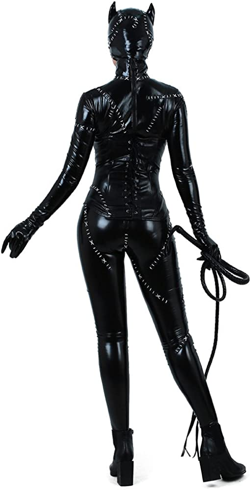Red Z-one 1 Punk Style Classic Cat Woman Costumes Diamond Horse Riding Whip Cosplay