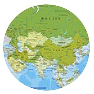 alfombrilla de ratón Altamente detallado mapa político editable. Asia. - ronda - 20cm