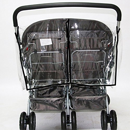 KarleksLiv Universal Waterproof Twins Baby stroller Rain Cover Side by side Double Pushchair dust proof cover Baby Carriage Pram Accessories Stroller Raincover by KarleksLiv (Image #1)