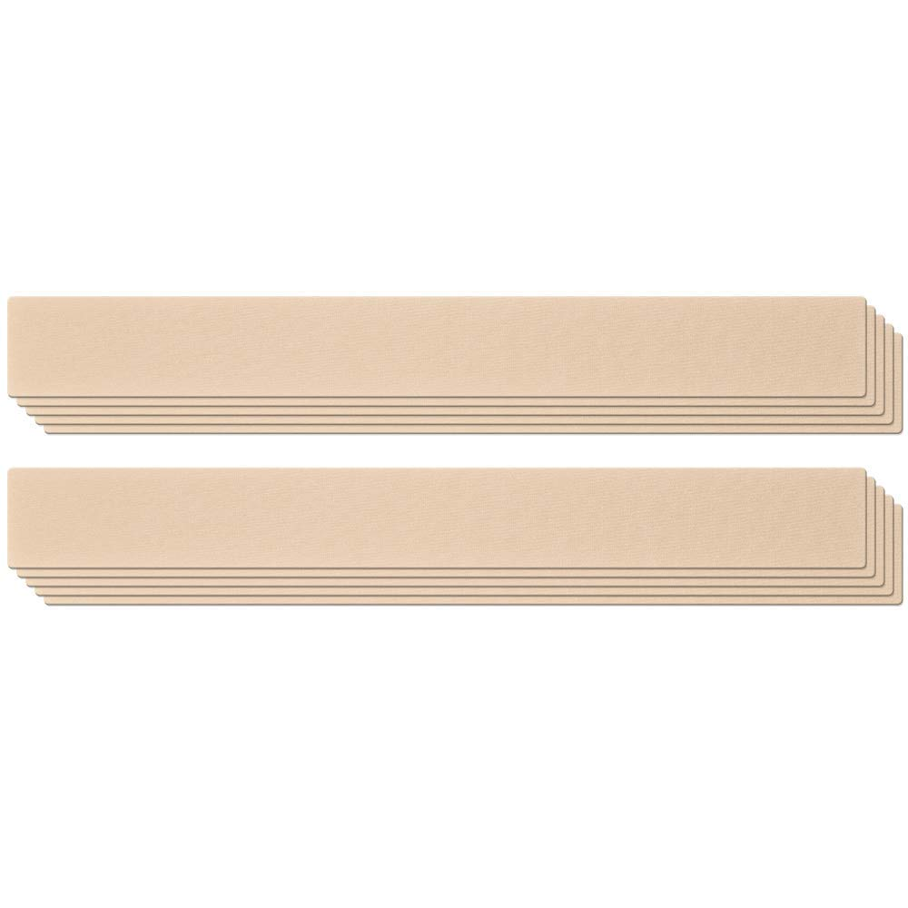 Epi-Derm Long Strip - 1.4 x 11.5 in - (5 Pair) (Natural) Silicone Scar Sheets from Biodermis