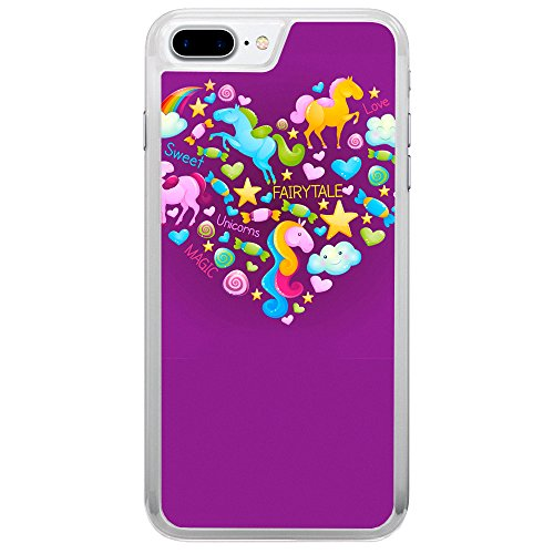 Image Of Fairytale Elements within a Heart on Purple Apple iPhone 7 Plus Phone Case
