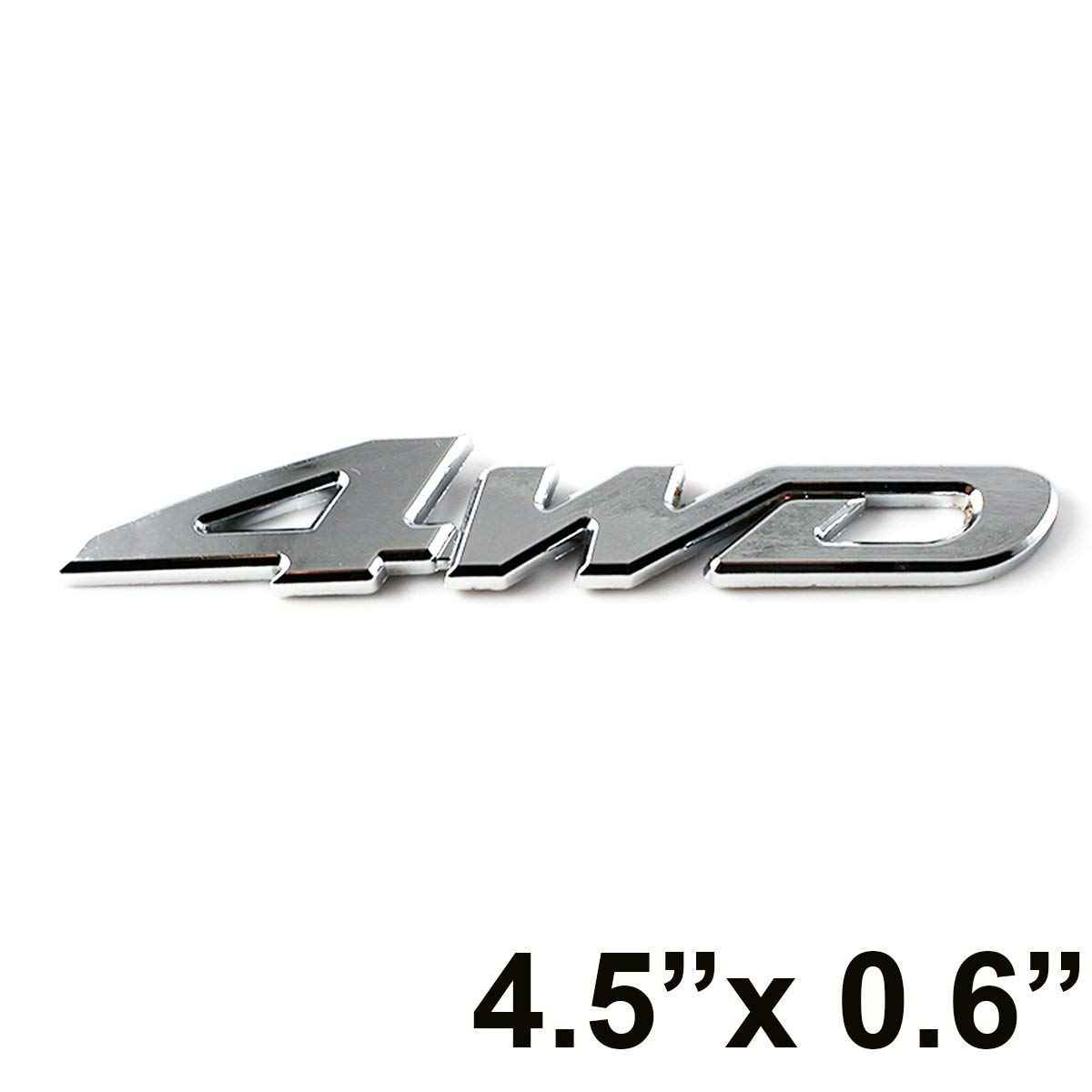 4WD Car Chrome Sticker Badge Emblem For All Wheel Drive Off Road SUV Auto 4X4