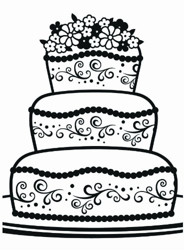 Darice Fancy Cake Embossing Folder, 4 .25-Inch by 5.75-Inch