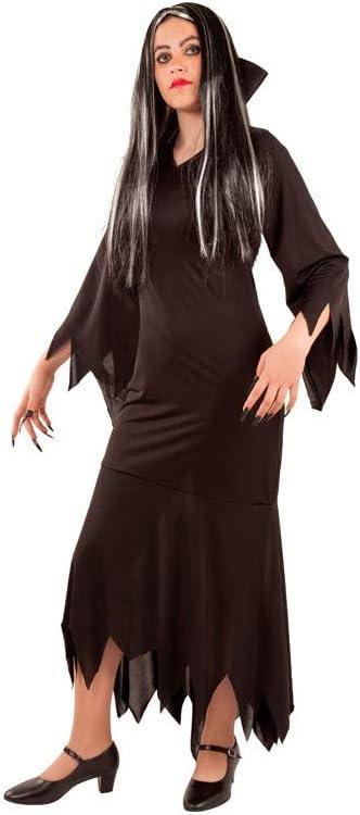 DISBACANAL Disfraz de Morticia para Mujer - -, S: Amazon.es ...