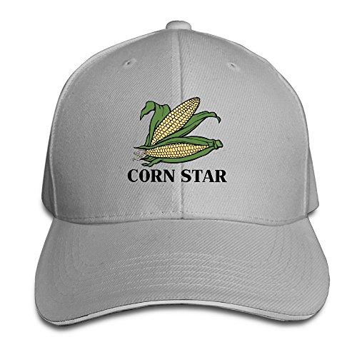 Cutadorns Corn Star Unisex Sandwich Hat Ash
