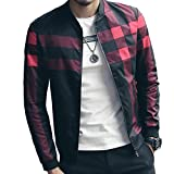 WULFUL Men's Casual Bomber Jacket Slim Fit Zip up Lightweight Windbreaker Jackets