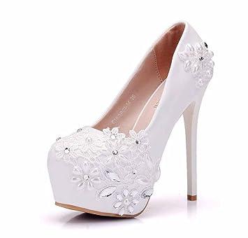 Zapatos Alto Onfly De Boda Encaje Para CmTacón Mujer14 EDY2W9HI
