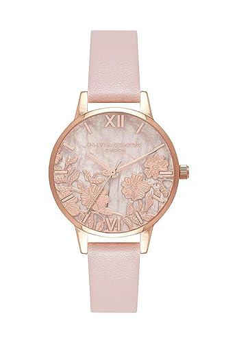 Olivia Burton Reloj de Pulsera analógico Cuarzo One Size, Rosé, Rosé: Amazon.es: Relojes