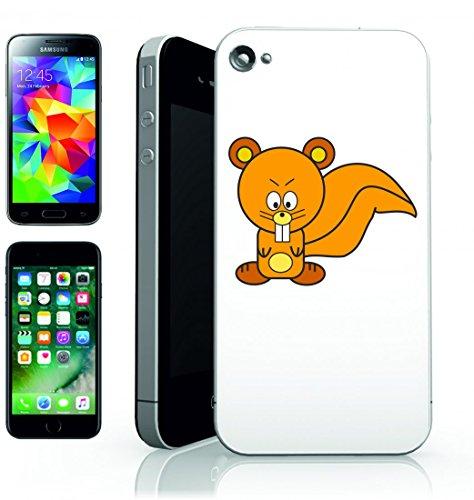 Smartphone Case Scoiattolo Animale di arrabbiato Arancione di disegno del fumetto per Apple Iphone 4/4S, 5/5S, 5C, 6/6S, 7& Samsung Galaxy S4, S5, S6, S6Edge, S7, S7Edge Huawei HTC–Divertiment
