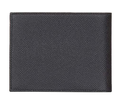Gabbana Negro Cuero Bi Veces Logotipo amp; Dolce Billetera De Grava De XEqxw5BnUP