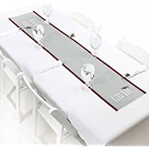 """Big Dot of Happiness Con-GRAD-ulations Red - Petite Graduation Party Paper Table Runner - 12"""" x 60"""""""