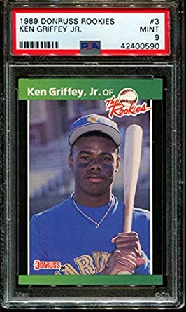 e4d3366796 Amazon.com: 1989 DONRUSS ROOKIES #3 KEN GRIFFEY JR. RC HOF PSA 9 ...