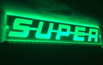 Vnvis 12 V Vert Led Plaque Super Sign Light Pour Scania Camions
