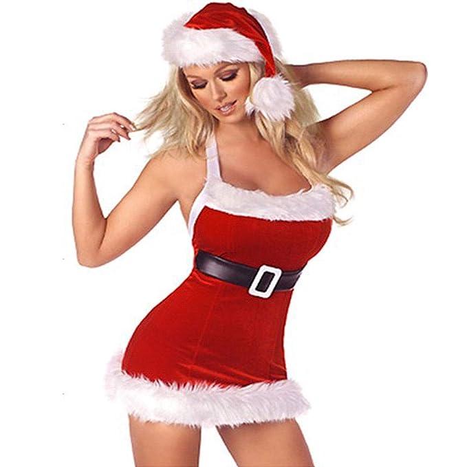 Mujeres de Papá Noel Navidad Disfraz Cosplay Outfit de Noche ...