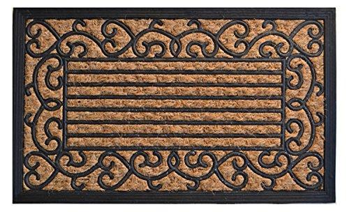 DOOR MATS - VENETIAN PALAZZO NON BRUSH COIR & RUBBER BACKED DOORMAT - 18