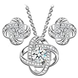 NINASUN 'Silk of Love' 925 Sterling Silver Women Necklace Earrings Jewellery Set