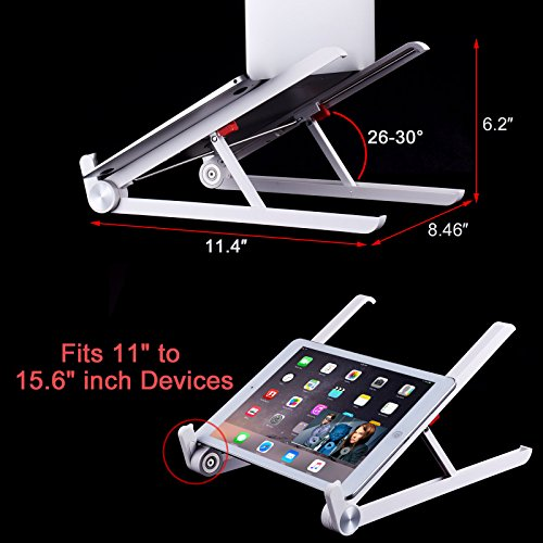 Laptop Stand - JUBOR Adjustable Laptop Stand Portable Foldable Ergonomic Desktop Stand Holder Mount for MacBook Notebook Computer PC iPad Tablet by Jubor (Image #4)