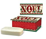 Cheap Punch Studio Scented Soap in Embellished Keepsake Rectangular Holiday Music Box – Vintage Noel