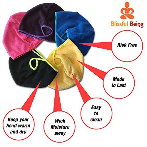 Womens Ponytail Hat by Blissful Being | Winter Running Beanie for Girls | Fashion Accessories for Outdoor Sports, Workout, Marathon Runners | Warm, Moisture Wicking Fleece