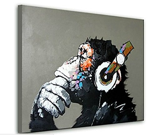 BPAGO-Animal-Chimp-Pig-Giraffe-Owl-100-Oil-Painting-Framed-Modern-Abstract-Paintings-and-Print-Canvas-Paintings