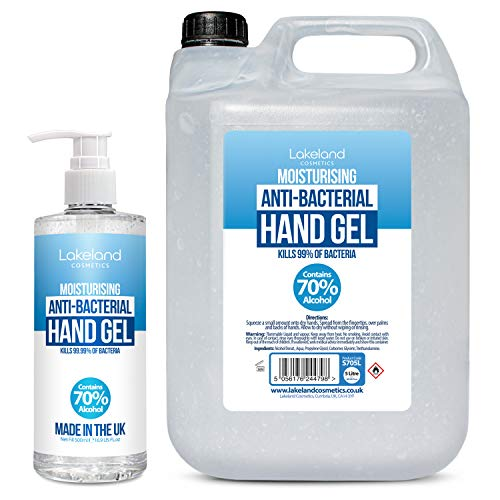Hand Sanitiser Gel – 1x 5 Litre & 1x 500ml with pump- 70% Alcohol Medical Grade – Anti-Bacterial Hand Hygiene Gel Rub…