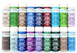 Martha Stewart Crafts Multi-Surface Satin Acrylic Craft Paint (2 Ounce), PROMO767D Best Selling Colors II
