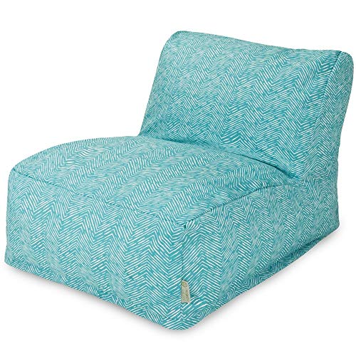 Majestic Home Goods Navajo Bean Bag Chair Lounger, Teal