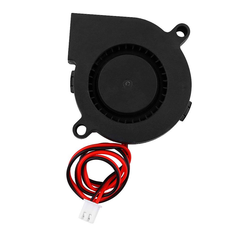 Pomya 3D Printer Cooling Blower Fan,DC 12/24V 5015mm Blow Radial Cooling Fan Turbofan Cooler Kit Accessories for 3D Printer(12V)