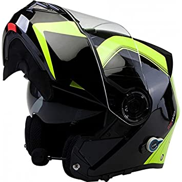 Viper RS-V151 BL+ Flip Up Casco para moto con Bluetooth y lengüeta
