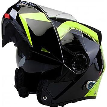 Viper RS-V151 BL+ Flip Up Casco para moto con Bluetooth y lengüeta