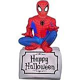 Gemmy Airblown Inflatable Halloween Spiderman Sitting On Tombstone Yard Decoration, 3.5-feet Tall