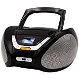 Lauson Boombox with Cd Player Mp3 | Portable Radio CD-Player Stereo with USB | USB & MP3 Player | Headphone Jack (3.5mm) CP545 (Black)