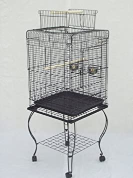 Brand New Open Play Top Parrot Bird Cage With Removable Stand 20x20x58H Mcage