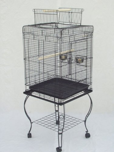 (Brand New Parrot Bird Cage Cages Play w/Stand 20x20x58