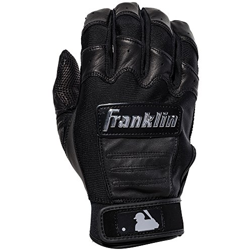 Franklin Sports CFX Pro Full Color Chrome Series Batting Gloves CFX Pro Full Color Chrome Batting Gloves, Black, Adult (Franklin Leather Batting Glove)