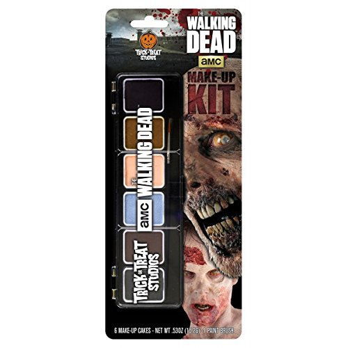 Trick or Treat Studios Men's Walking Dead-Makeup Kit, Multi, One (Halloween Zombie Makeup Man)