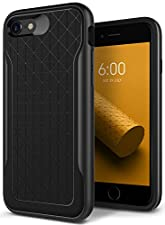 Caseology Apex Series iPhone 8 Case, iPhone 7 Case, Slim Protective Dual Layer Textured Cover Secure Grip Geometric Design for Apple iPhone 8 (2017) / iPhone 7 (2016) - Black / Warm Gray