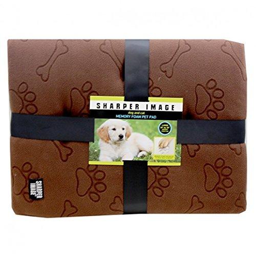 sharper-image-dog-and-cat-memory-foam-pet-pad-bed-brown