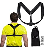 Posture Corrector | For Men & Women, Upper Back Pain Reliever, 8-Shaped Lightweight Artistic Piece Improves Posture,Clavicle Support, Non-Slouching, Thick Padding For Shoulder Comfort